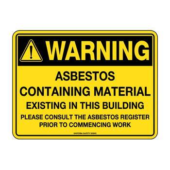 Asbestos Containing Material Exisiting In This Building