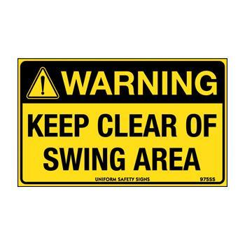 Clear Clear of Swing Area