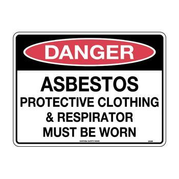 Asbestos Protective Clothing and Respirator Must Be Worn