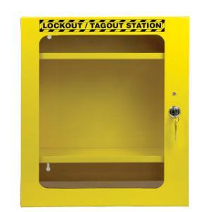 Lockout Station Cabinet With Clear Door